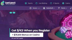 Betzest Casino: The Generous Welcome